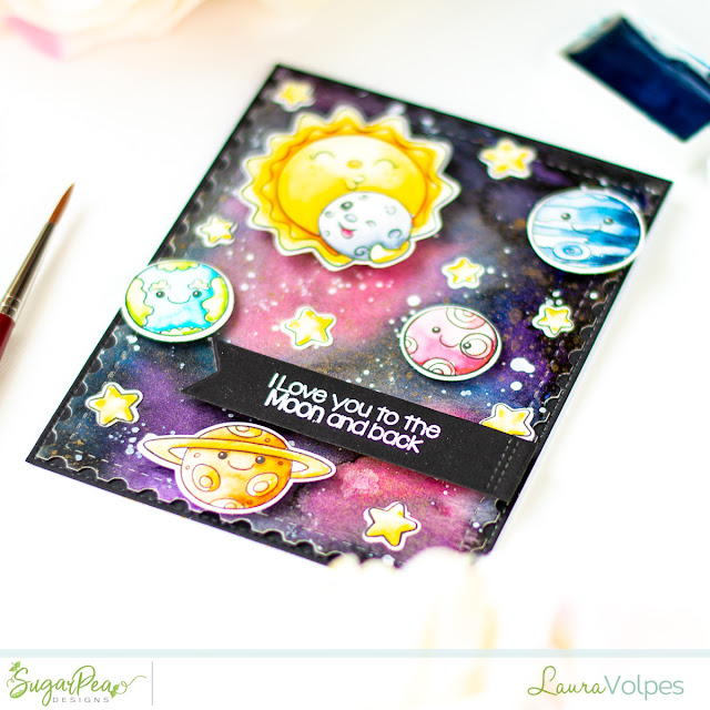 SugarPea Designs Over the Moon To Infinity and Beyond Handmade Card