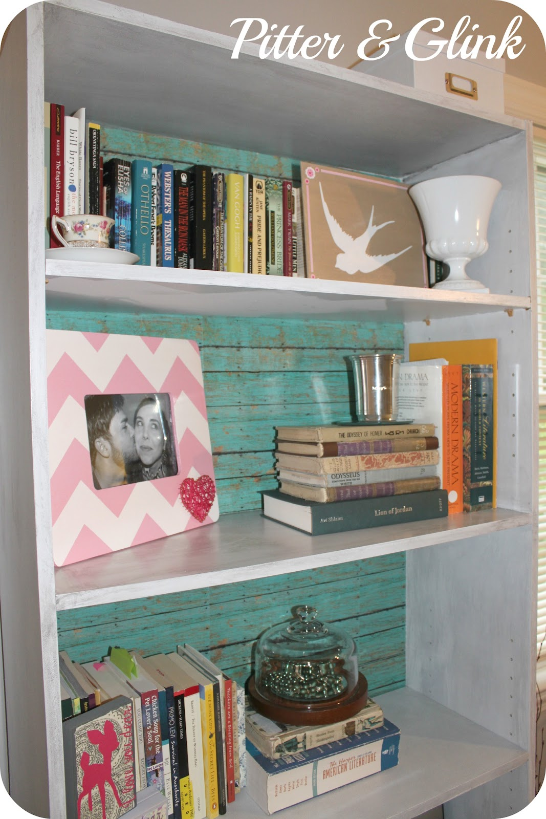 Pitterandglink craft room redo laminate bookcase revived - What did the wall say to the bookcase ...