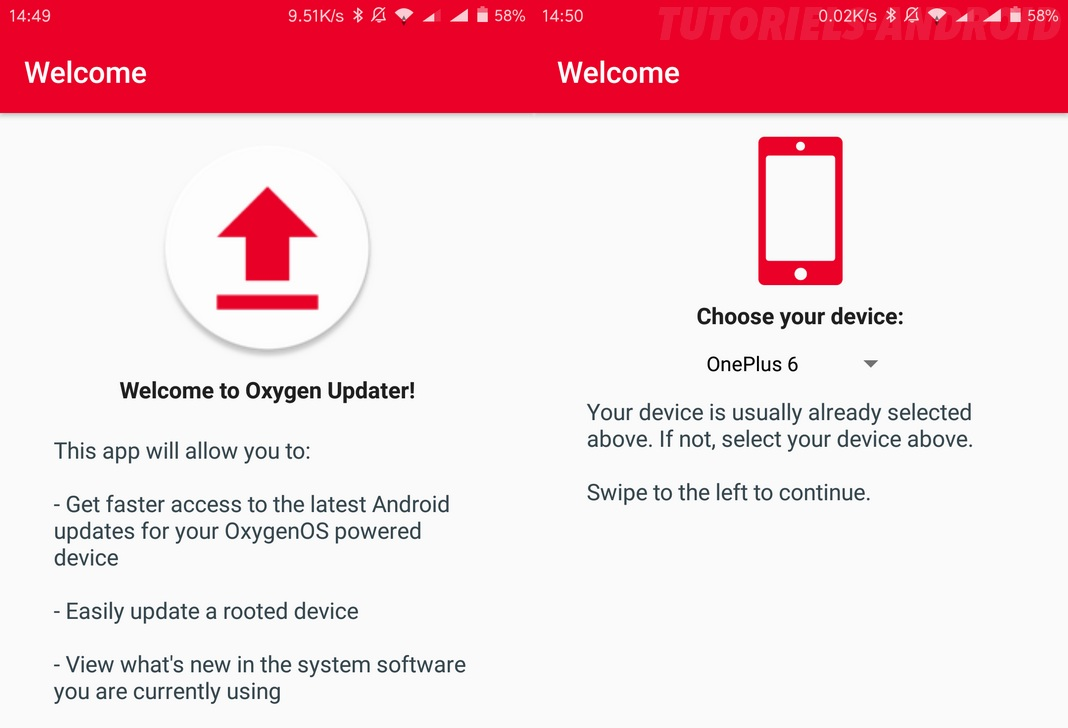Oxygen Updater : configuration