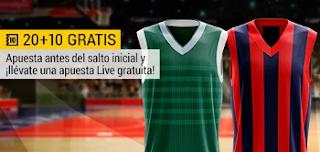 bwin promocion 10 euros euroliga Zalguiris vs Baskonia 16 noviembre