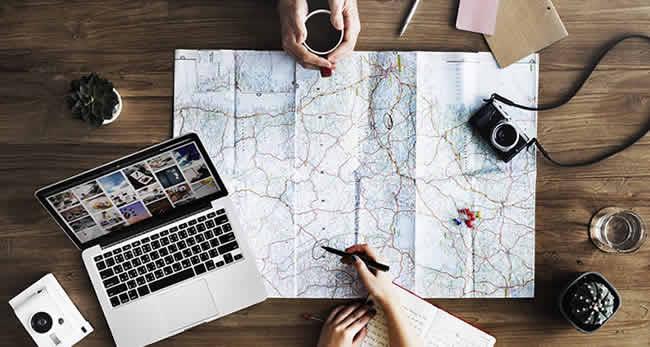 Planejando roteiro e plano de viagem