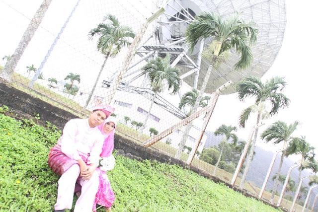 outdoor kahwin,sesi gambar,satelite