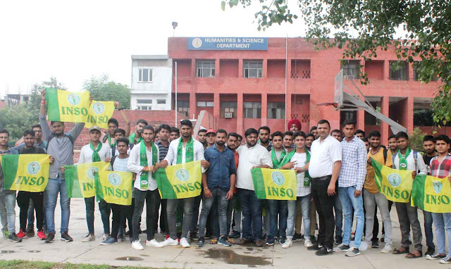 Students from YMCA University, Faridabad, from BJP, got the approval of INSO