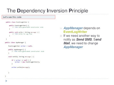 Dependency Injection or Inversion principle