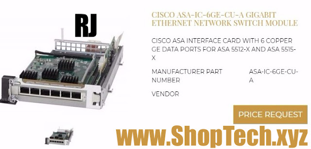 CISCO ASA-IC-6GE-CU-A GIGABIT ETHERNET NETWORK SWITCH MODULE