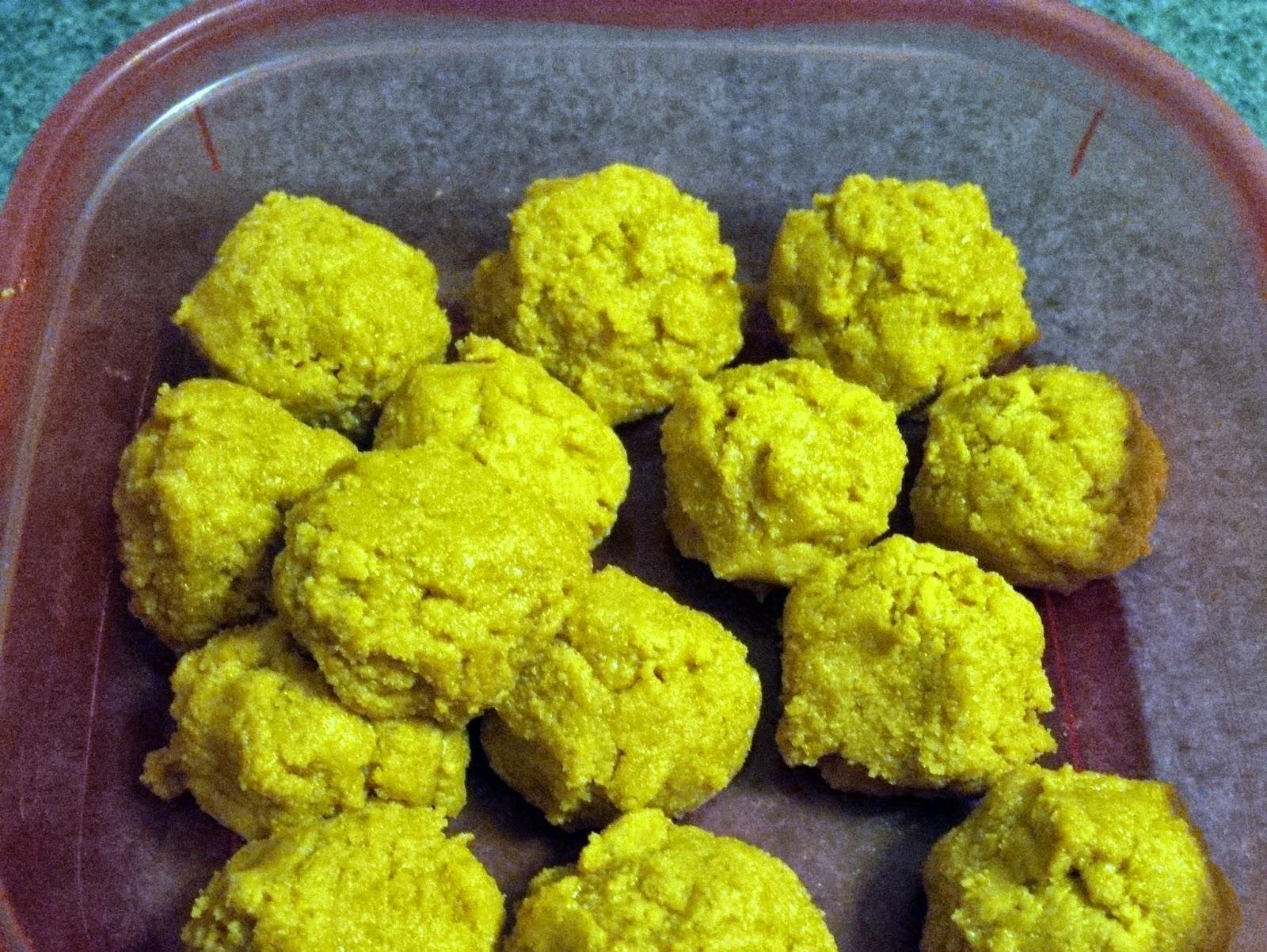 Super-easy peanut butter protein truffles