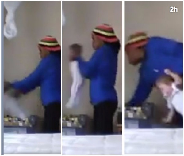 Mum's hidden camera 'catches nanny violently throwing baby into cot like rag doll'