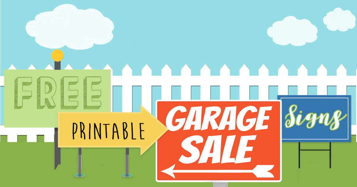 free printables garage sale signs price tags