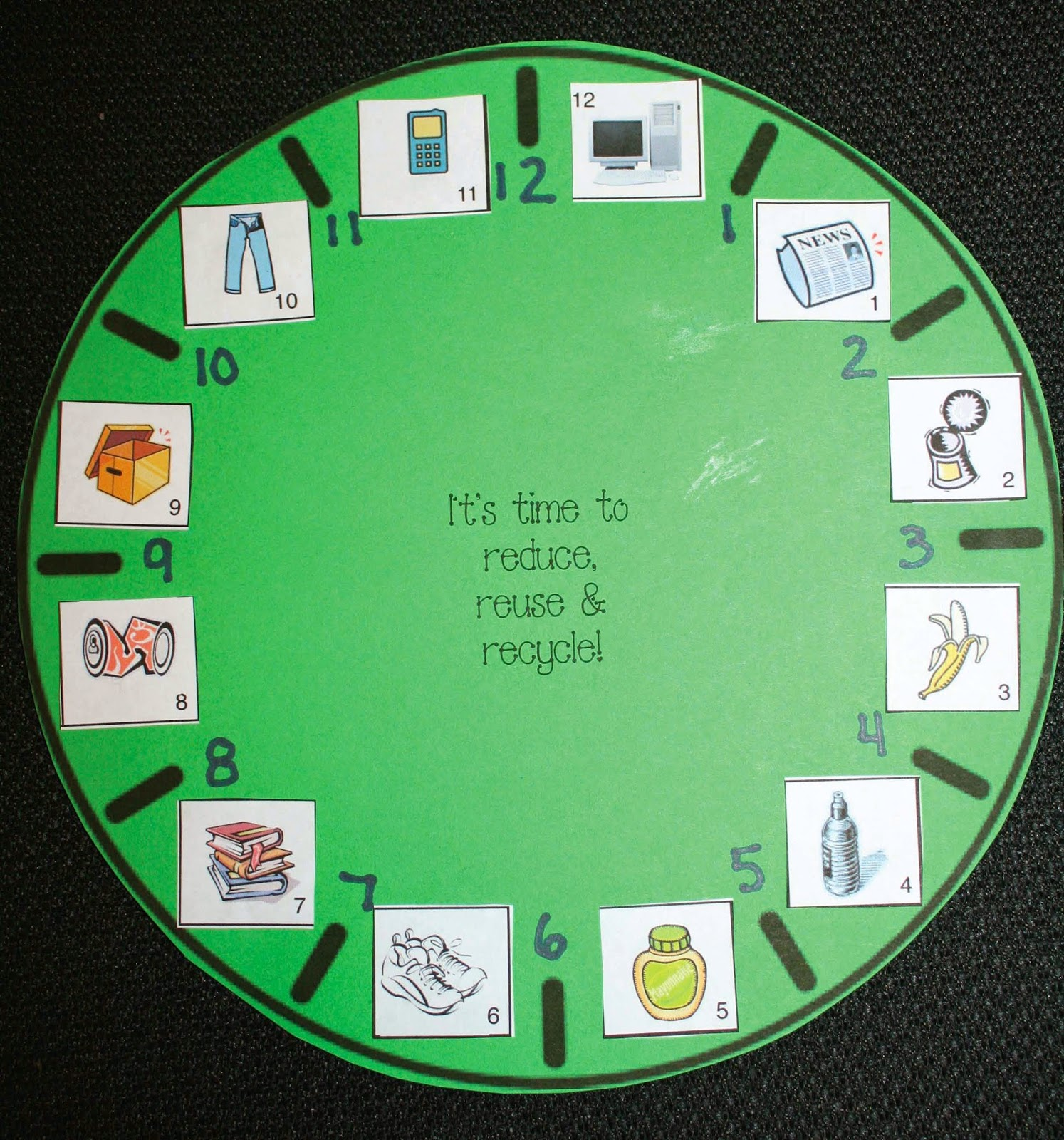 It S Time To Recycle Earth Day Telling Time Game