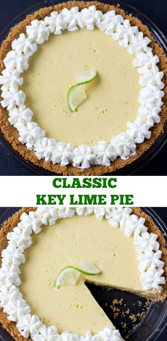Classic Key lime pie is a favorite summer time dessert! This key lime pie recipe is easy to make, creating a smooth and creamy filling for the graham cracker crust.