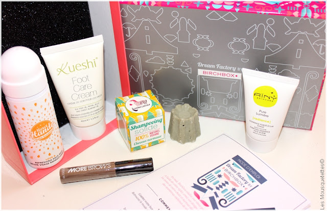 Birchbox Dream Factory mai 2016 - Box beauté Lamazuna, Merci Handy, Modelco, Aïny, Kueshi - Blog Les Mousquetettes©