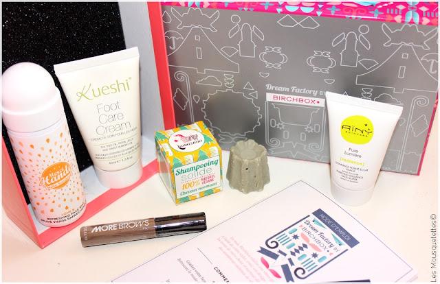 Birchbox Dream Factory mai 2016 - Box beauté Lamazuna, Merci Handy, Modelco, Aïny, Kueshi - Blog Les Mousquetettes©