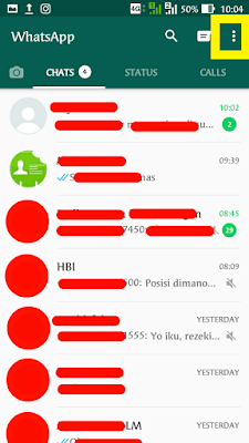 Pesan berbintang di whatsapp