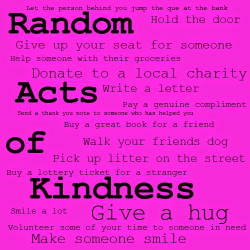HOLLYE DEXTER: Random Acts of Kindness Week