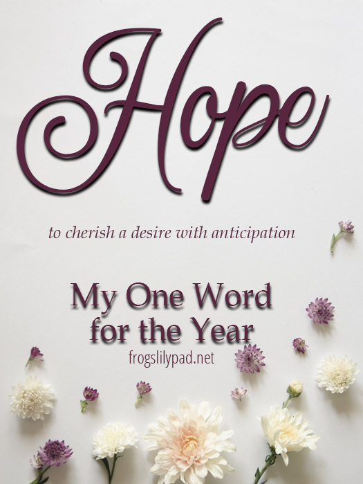 Hope: My Word for 2018