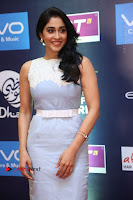 Actress Regina Candra Stills in Beautiful Sleeveless Blue Short Dress at SIIMA Short Film Awards 2017 .COM 0037.JPG