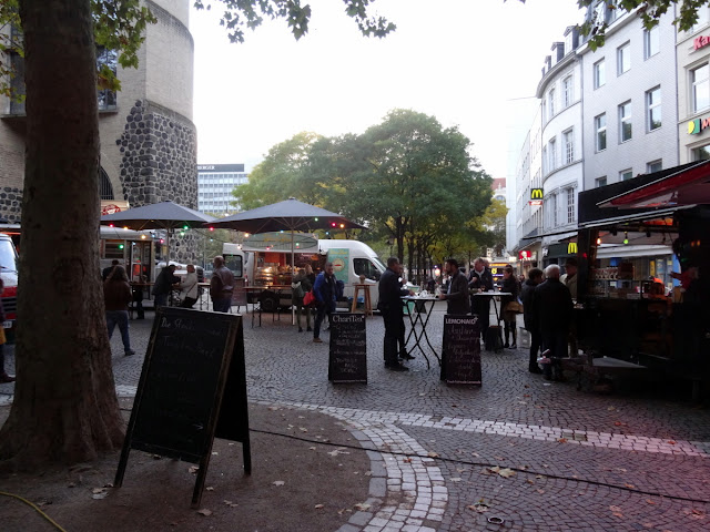 Meet & Eat street food market at the Rudolfplatz in Cologne, Germany
