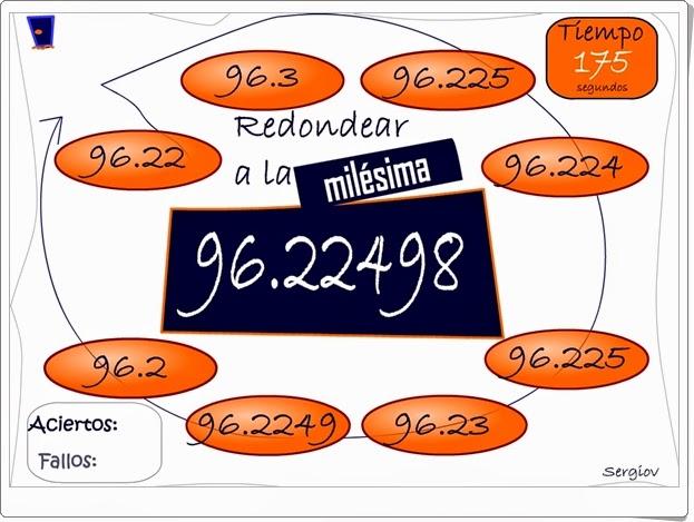 """""""Redondea decimales en tres minutos"""" (Juego de Matemáticas)"""