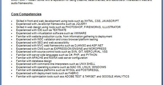 web designer resume building format in word free download