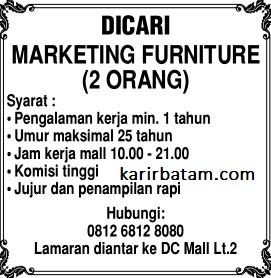 Lowongan Kerja Marketing Furniture