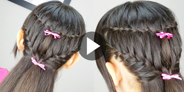 How To Create  Waterfall And Ladder Braid Hairstyle - See Tutorial