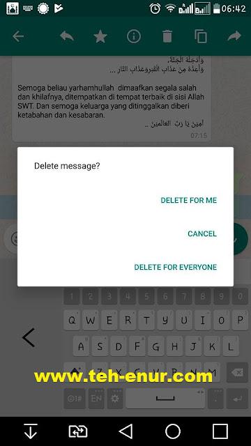 Fitur Baru WhatsApp: Recall Message
