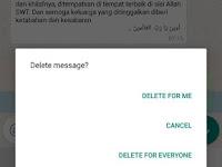Fitur Baru WhatsApp: Recall Message, Hapus Pesan di HP Kita dan Semua Orang yg Dikirimi