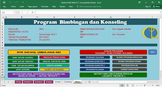 Aplikasi IKMS Bimbingan Konseling Format Excel