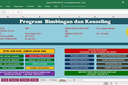 Download Aplikasi IKMS BK SMP SMA SMK MA Format Excel Lengkap