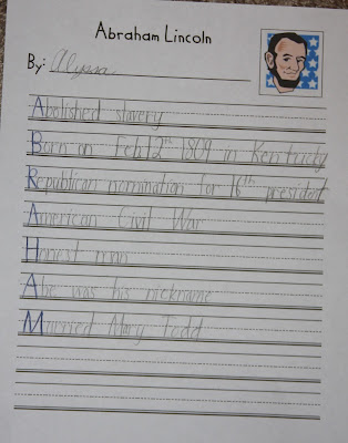 A Learning Journey: P is for President's Day Poetry