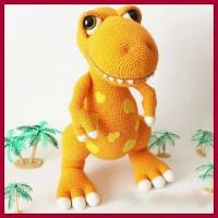 Genial dinosaurio amigurumi