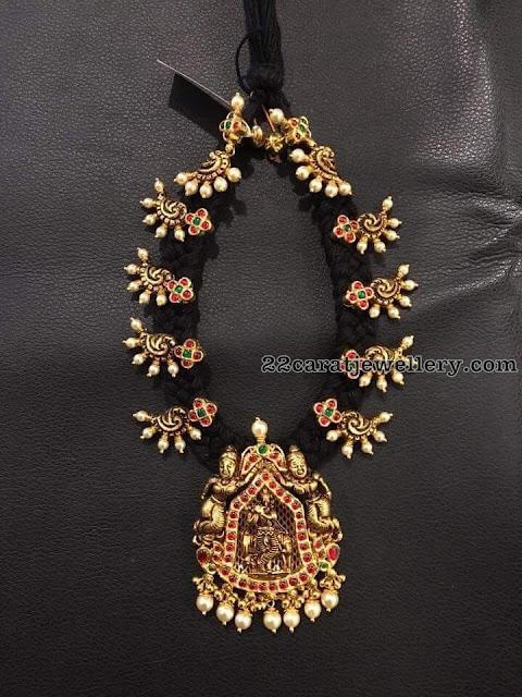 Black Thread Necklace with Krishna Locket