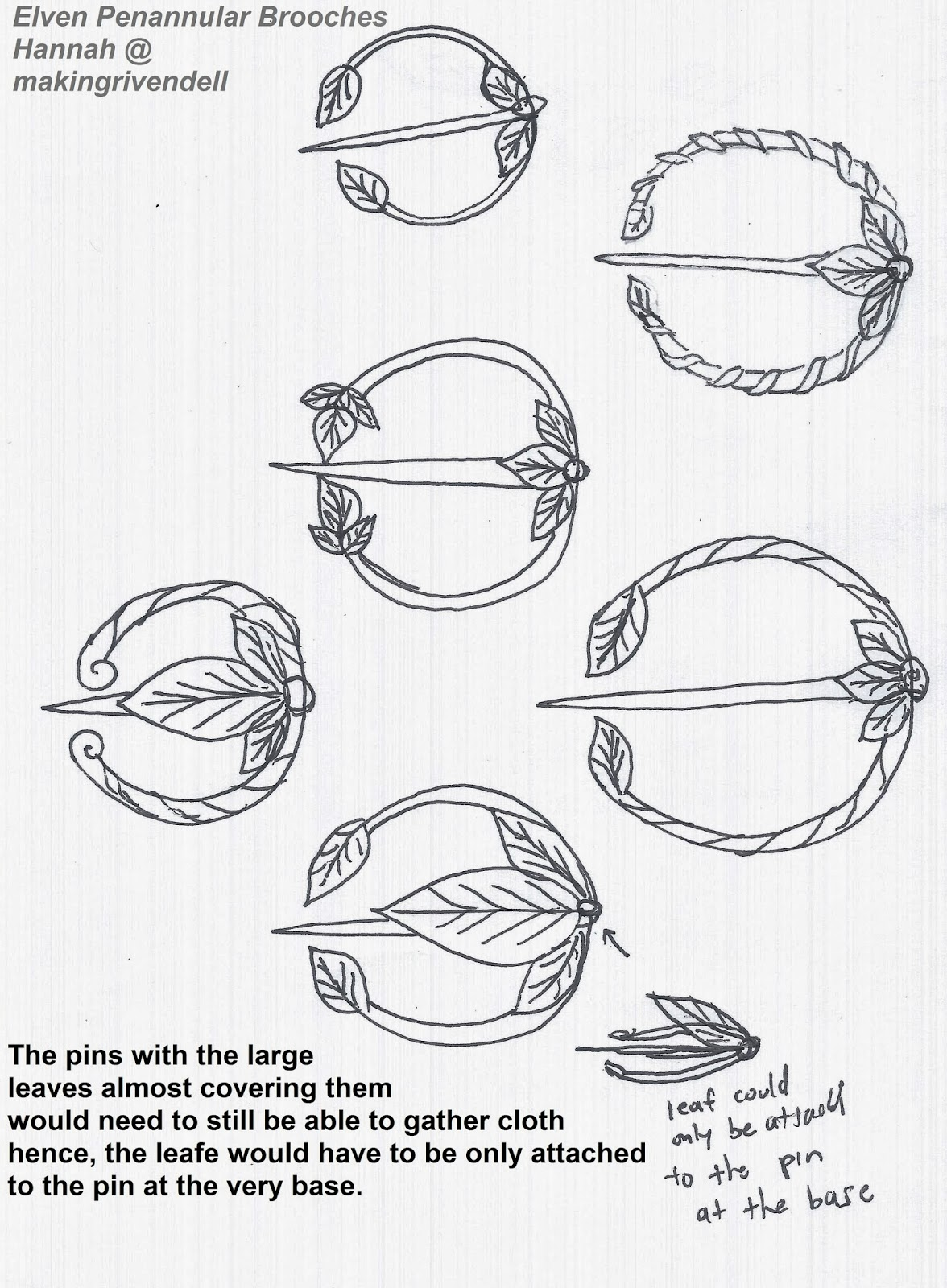 Elven penannular brooches designs