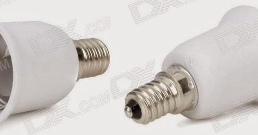 bombillas de bajo consumo ahorro o timo bricolaje adaptadores de bombillas e14 a e27. Black Bedroom Furniture Sets. Home Design Ideas