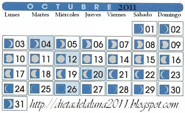 La dieta de la luna 2018 fases lunares mes de octubre for Fases lunares del 2016