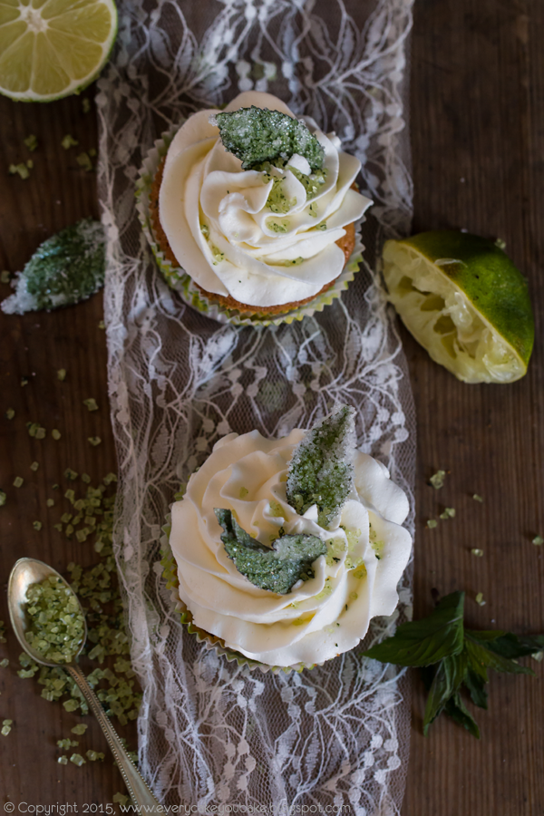 babeczki mojito o smaku limonkowo-miętowym