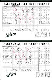 Mariners vs. Athletics, 09-05-09. Athletics win, 9-5.