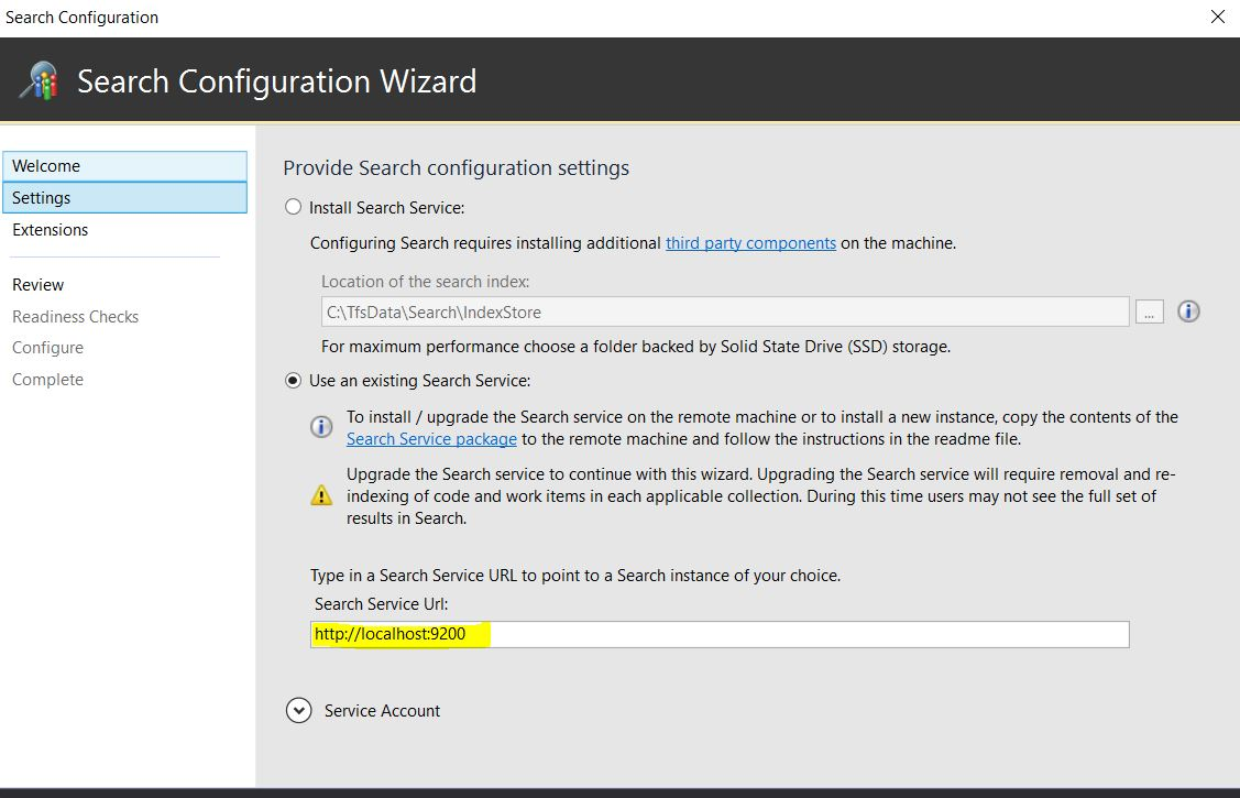 Configure Search in the primary AT instance. Update the Search URL in the  Admin page to point to the new URL.