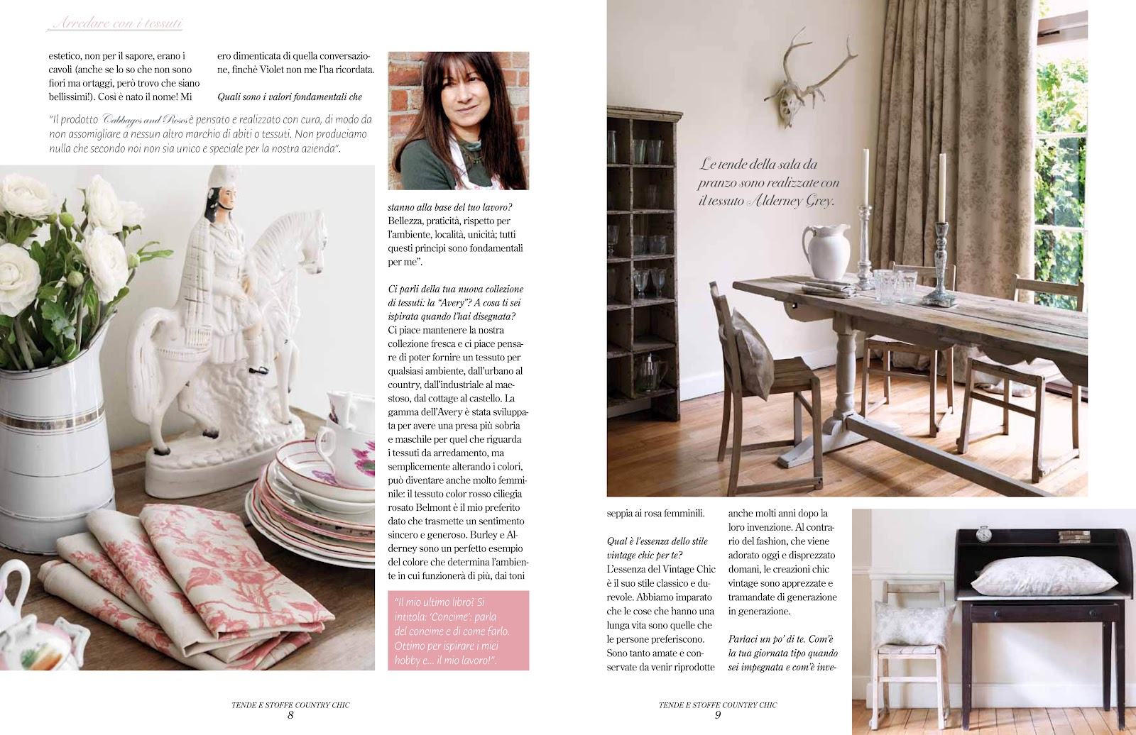 Sala Da Pranzo Country Chic an interview with christina - notes by cabbages & roses