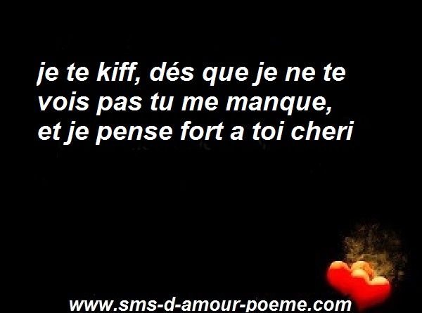 image SMS tu me manques mon amour