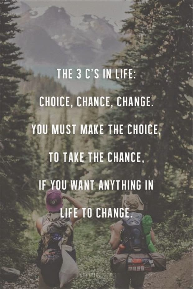 Three Cs in Life Motivational Poster