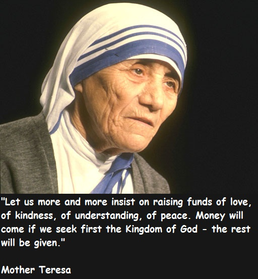 Quote From Mother Teresa: Activating Thoughts: Great Thoughts And Quotes By Mother