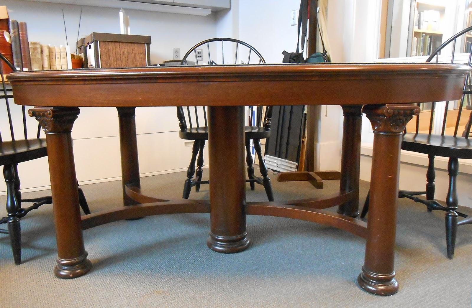 A mahogany table.