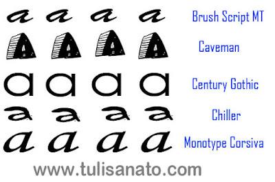 20 Font Huruf A Keren yang Lengkap dengan Nama-Namanya