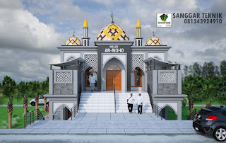 masjid minimalis modern 2017 jasa desain murah GAMBAR DESAIN MASJID / MUSHOLLA MODERN 2 LANTAI