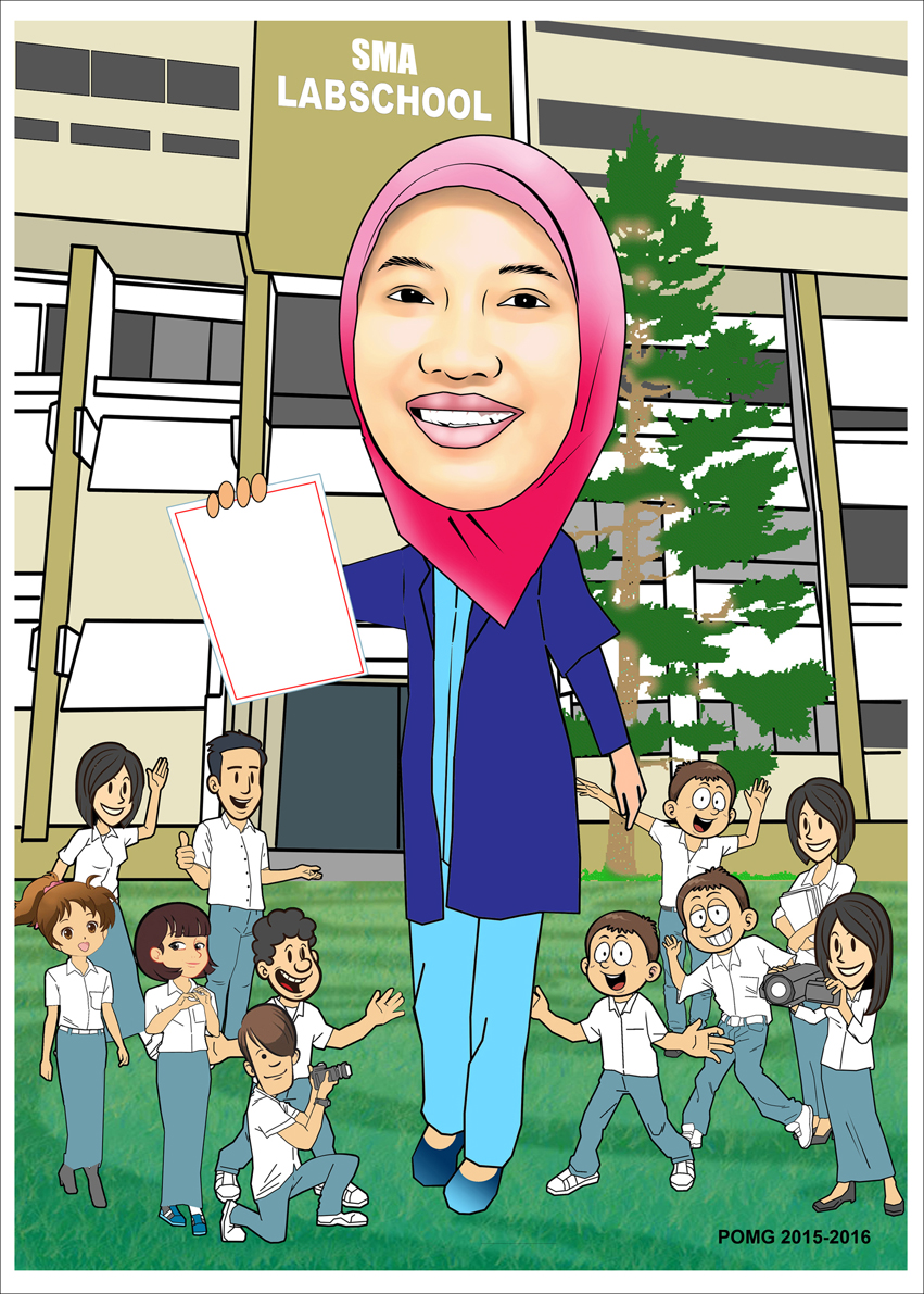 PESAN KARIKATUR MURAH SMA Lab School Jakarta