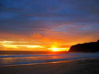 Sunset di Pantai Modangan Donomulyo Blitar Malang Jawatimur