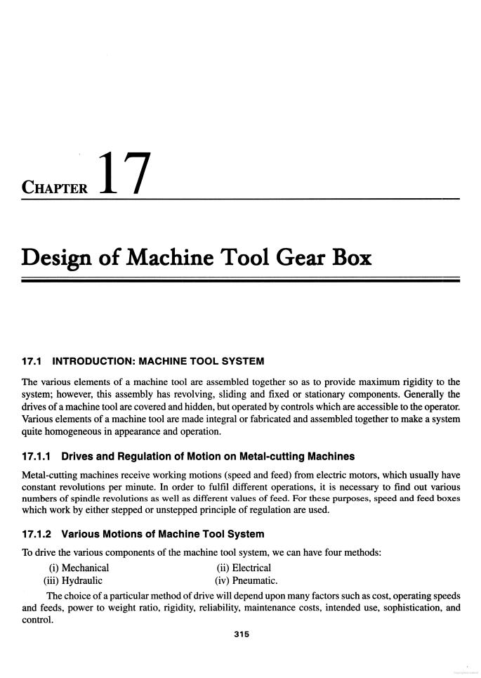 Design of Machine Tool Gear Box - Mechanical Engineers