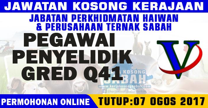 Jawatan Kosong Jphpt Sabah Pegawai Penyelidik Gred Q41 Jawatan Kosong Terkini Negeri Sabah