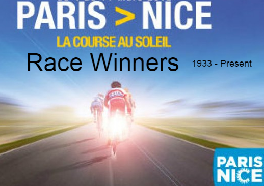 paris-nice, cycling, race, champions, winners, facts, list, 1933,